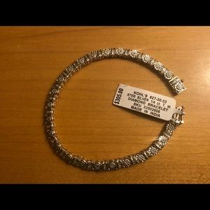NWT Diamond and Sterling Silver Tennis Bracelet